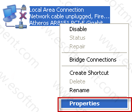 local area connection setting