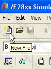 clicking on new file