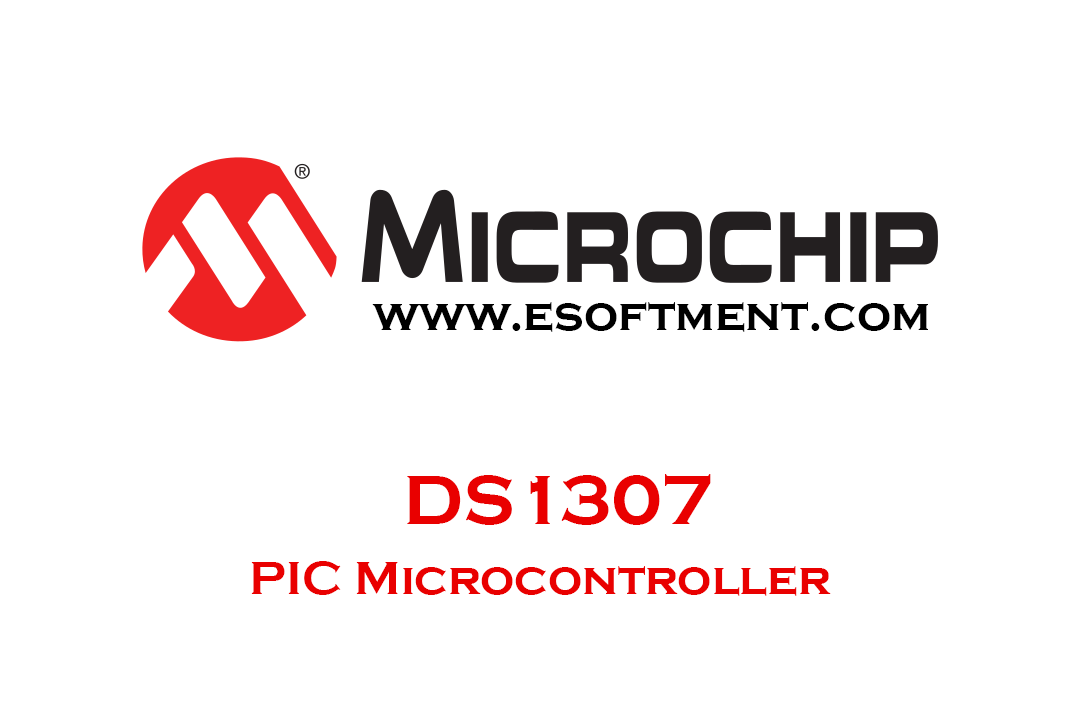 DS1307 RTC module with PIC header image
